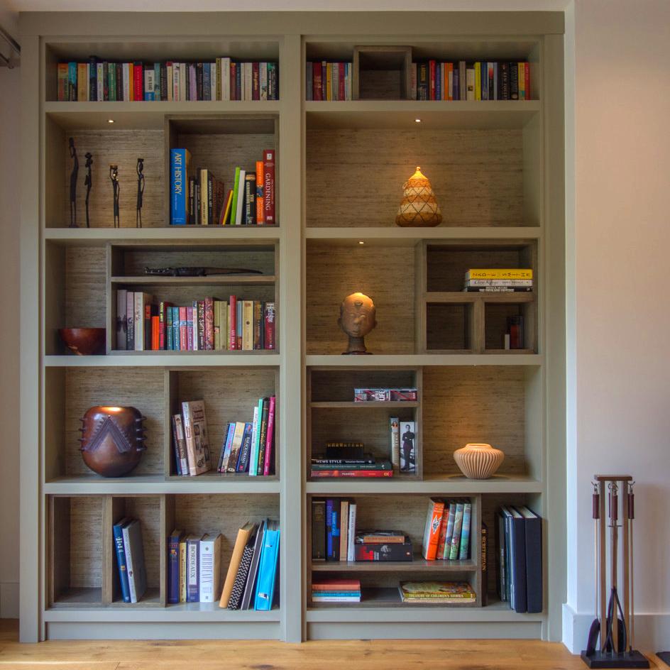 inbuilt bookcase