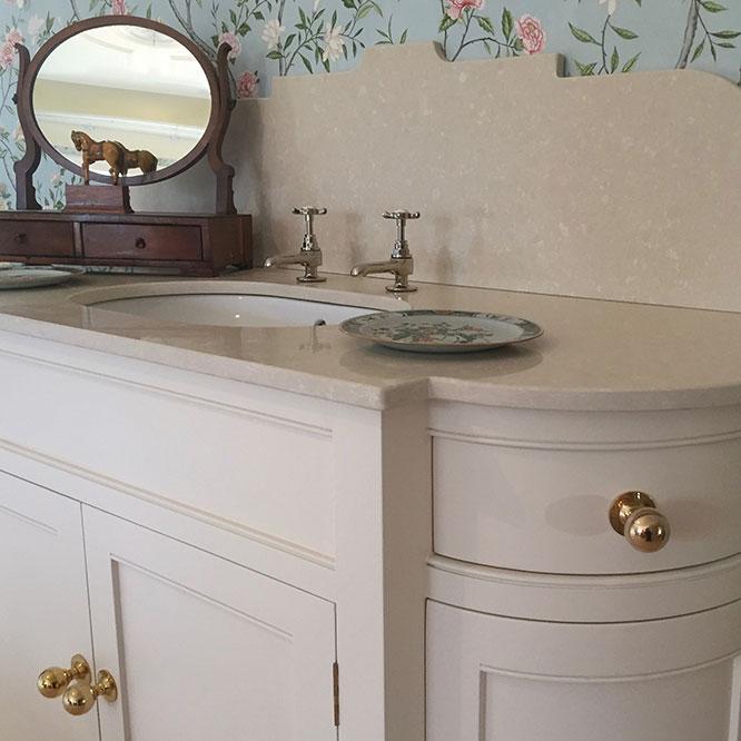 curved vanity unit