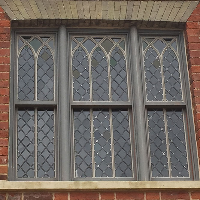 front view custom gothic sash window
